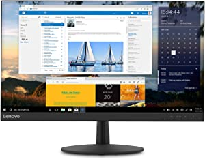 Lenovo L24q-30 23.8-inch QHD (2560 x 1440) LED Backlit IPS Monitor, FreeSync, Widescreen, 3-Side Narrow Bezels, 75Hz, 4ms, HDMI, DP, Title, VESA Mount, 65FBGCC1US, Raven Black