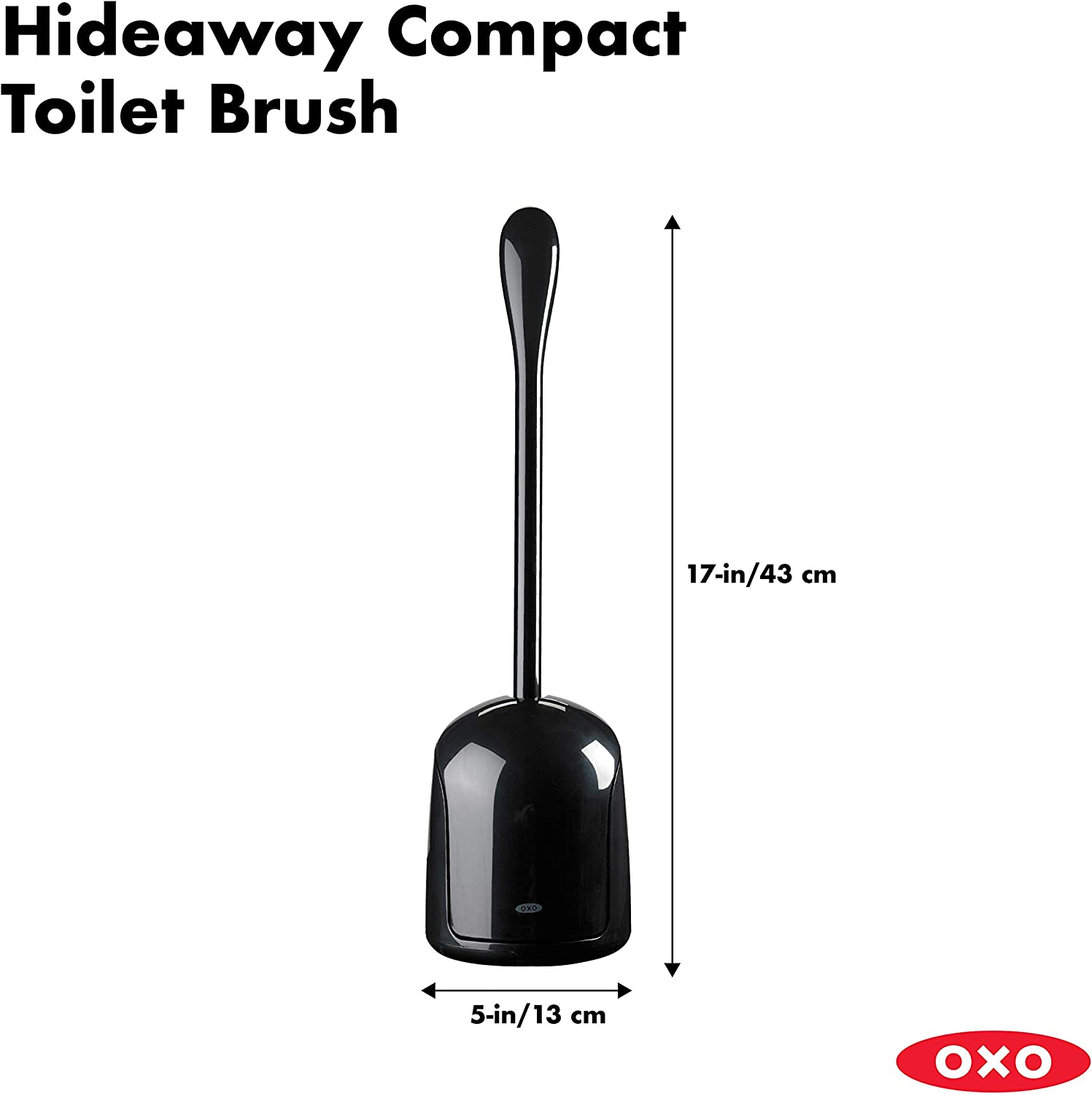 OXO Good Grips 1349480 Hideaway Compact Toilet Brush - Black: Home & Kitchen