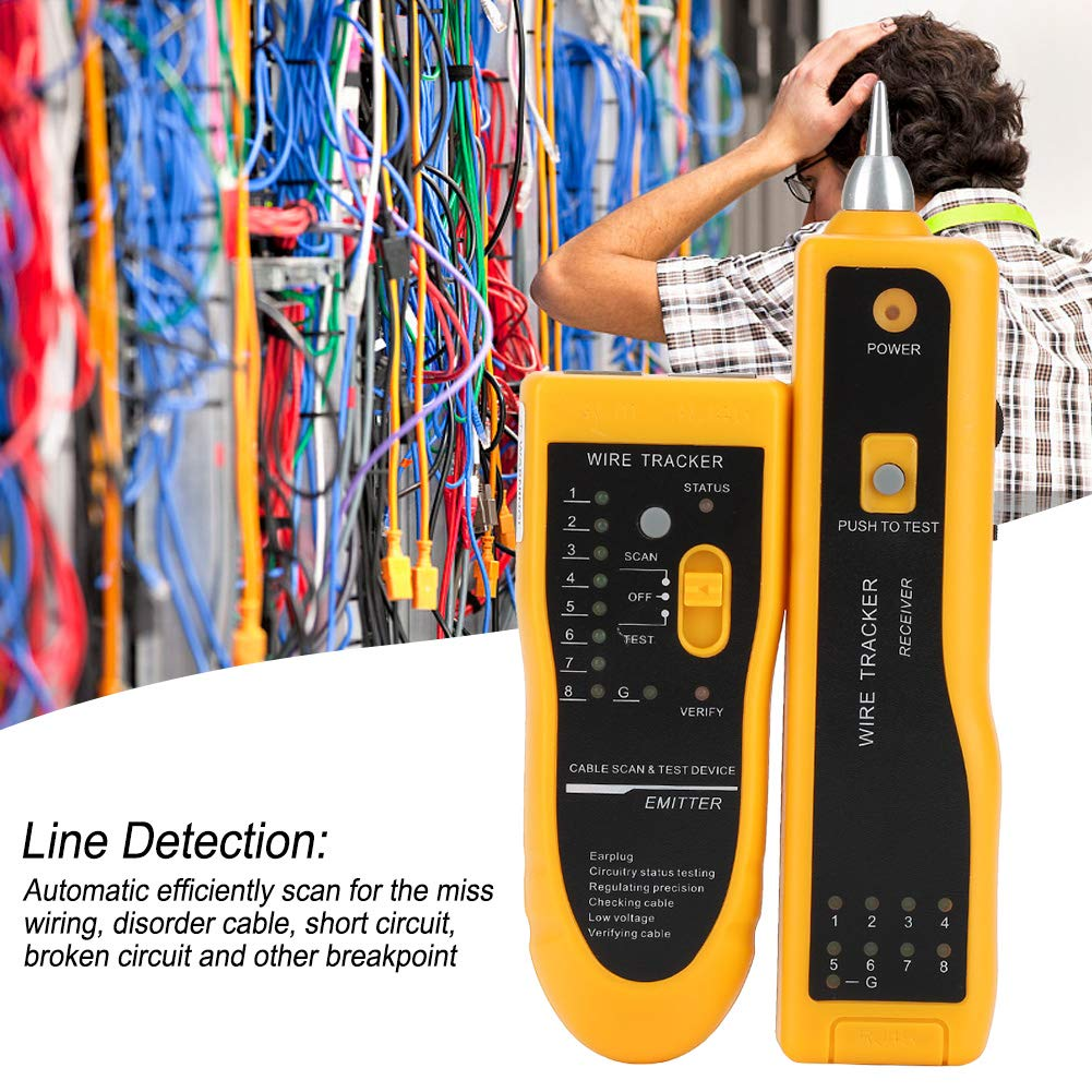 Testeur de r/éseau Testeur de c/âble de d/étecteur de c/âble de traceur de c/âble de recherche de ligne de r/éseau pour la d/étection de ligne