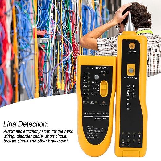 Comprobador De Cables, Detector Buscador De Líneas Rastreador De Cables De Teléfono Comprobación De Circuito De Cables Multifunción Dispositivo Portátil De ...