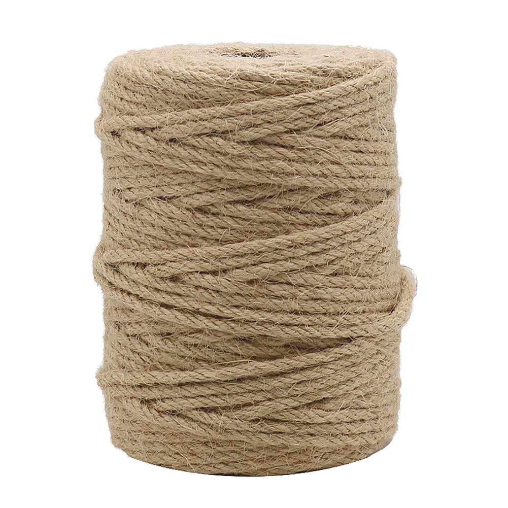 Tenn Well 164Feet 4mm Natural Jute Twine for Gardening, Arts & Crafts, Home Decor, Gift Wrapping by Tenn Well