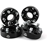 Wheel Spacer Set of 4-1.5in Thick - 5x127mm, 5x5in Hub Centric Adapter 71.5mm Bore - 1/2 x 20 Studs - Compatible with Jeep Ve