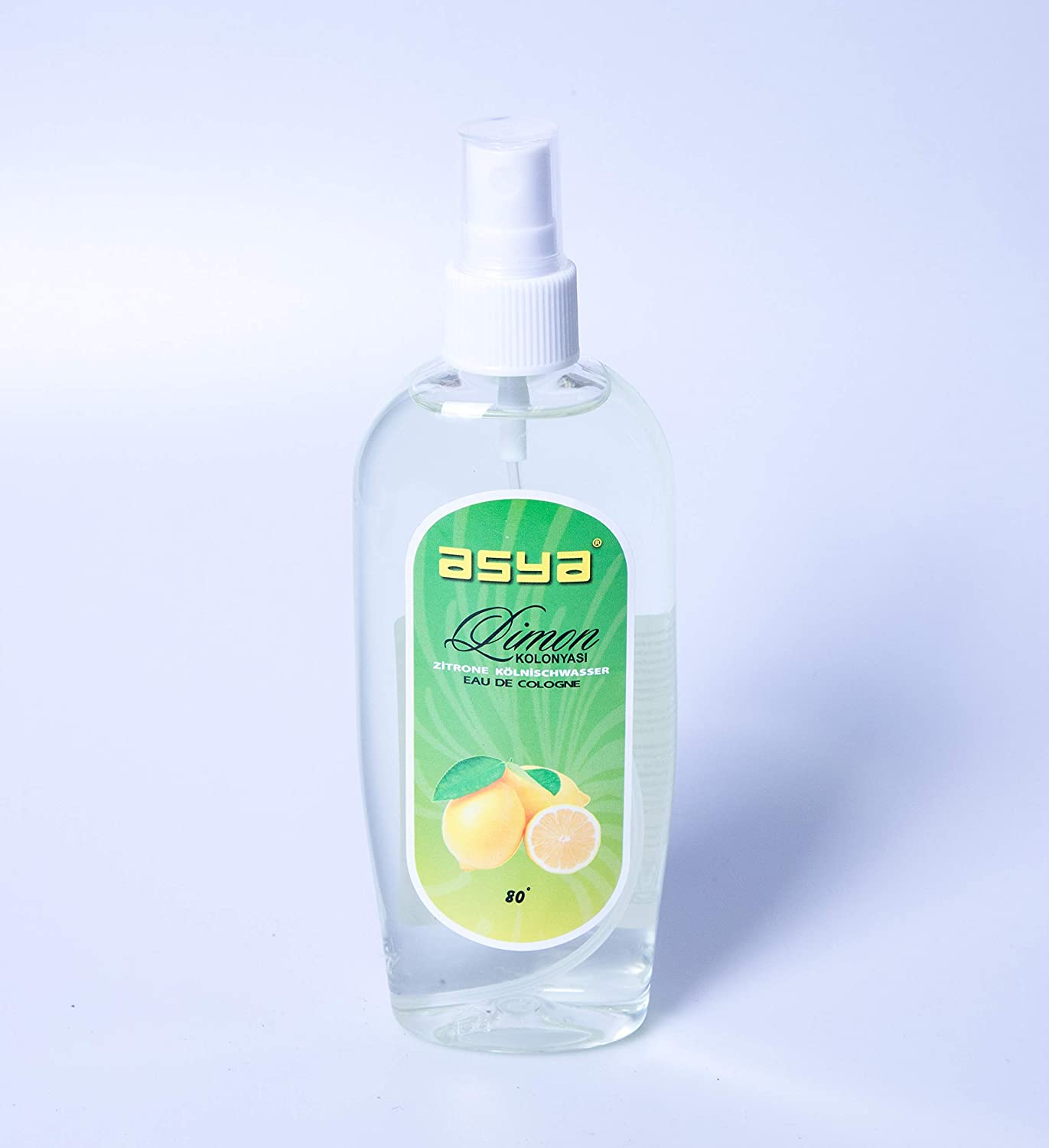 Asya Spray Cologne Lemon 165ml (Limon Kolonyasi 80°) AS-KO Kosmetik