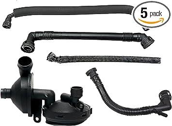 Amazon Com Pcv Crankcase Ventilation Oil Separator Hose Compatible With Bmw E46 3 Series E39 E60 X3 X5 Replace 11157532649 11617501566 11611432559 Pcv Valve Crankcase Positive Exhaust Valve Hose Kit For Bmw Automotive