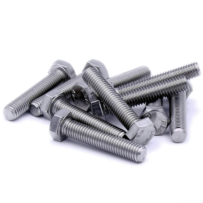 M8 (8mm x 40mm) Hex Bolts (Fully Threaded SetScrew) - Steel (Pack of 20) Singularity Supplies Ltd