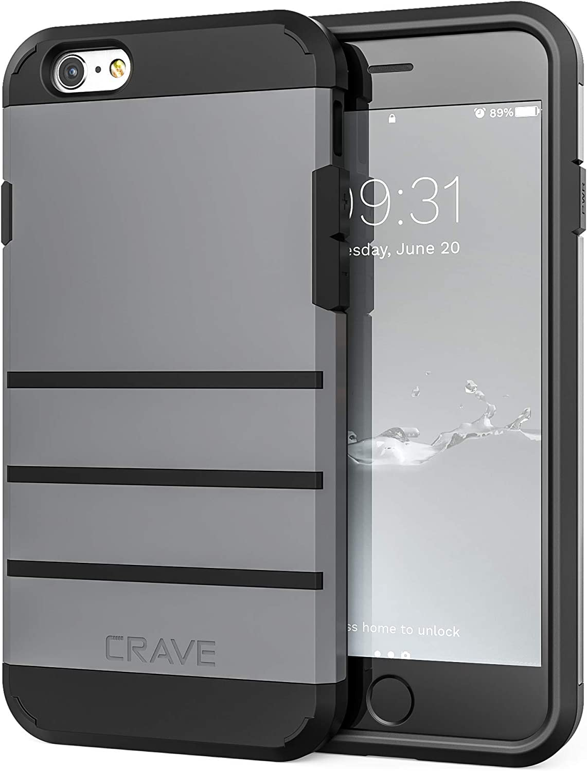 iPhone 6S Case, iPhone 6 Case, Crave Strong Guard Protection Series Case for Apple iPhone 6 6s (4.7 Inch) - Slate
