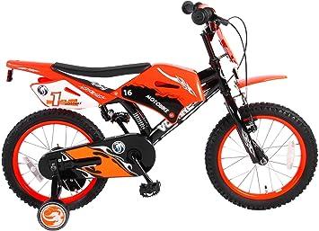 .Volare Bicicleta para Niño Chico Motocicleta 16 Pulgadas Frenos al ...