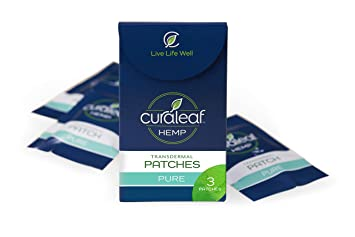 Curaleaf | Hemp Oil Patches | 25mg (Pack of 3) | Long-Lasting Pain Relief