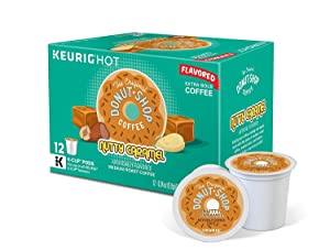 The Original Donut Shop Nutty Caramel Medium Roast Coffee K-Cup Pods, (12-Count Box) (Pack of 2 Retail Boxes)