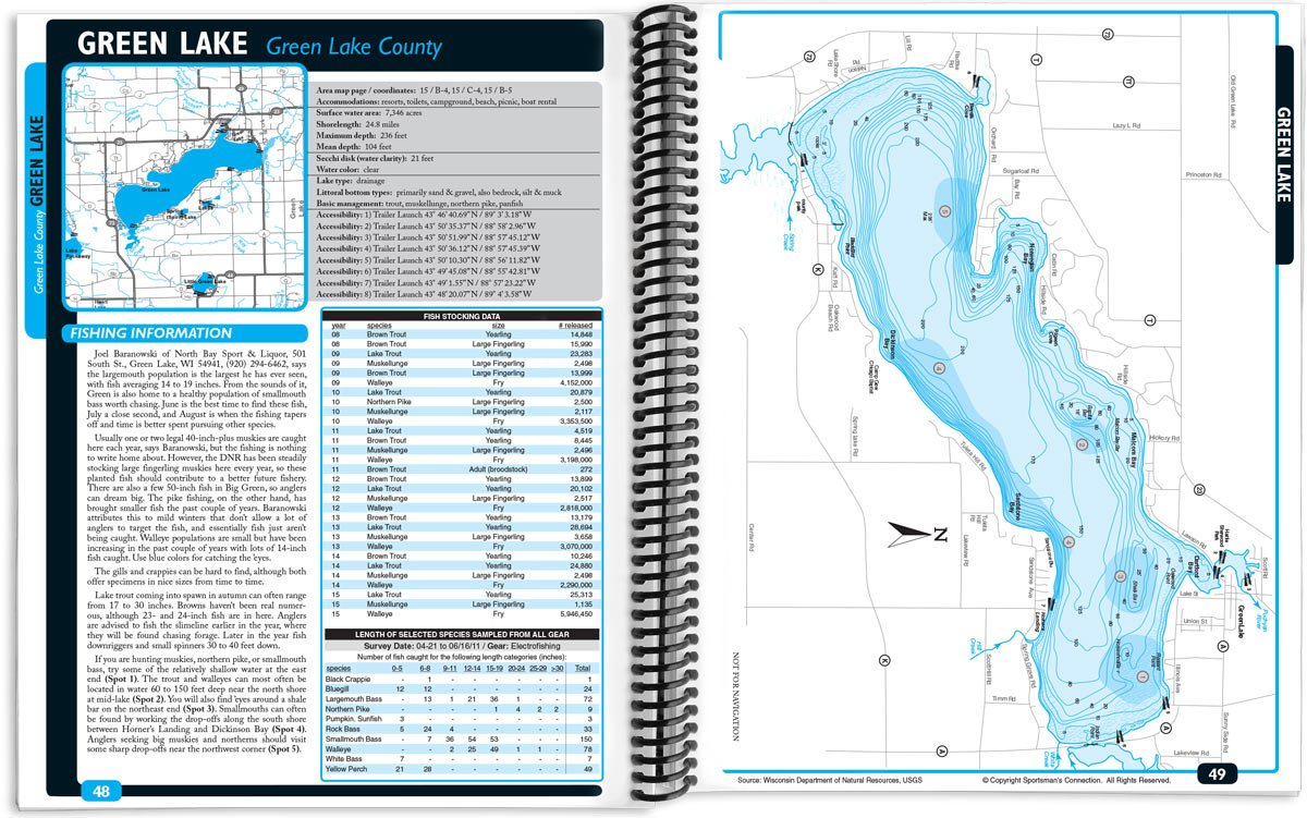 Southern Wisconsin Fishing Map Guide Sportsmans Connection - Map of northern wisconsin lakes