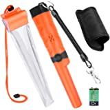 Kuman Pin pointer Water Resistant Metal Detectors with Holster Treasure Hunting Unearthing Tool Accessories Buzzer Vibration