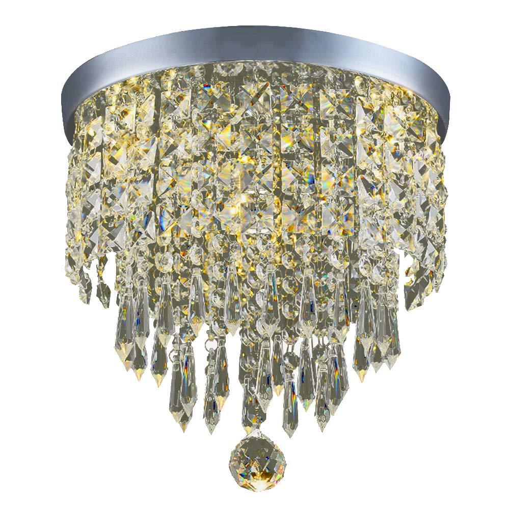 Hile Lighting KU300074 Modern Chandelier Crystal Ball Fixture Pendant Ceiling Lamp H9.84'' X W8.66'', 1 Light