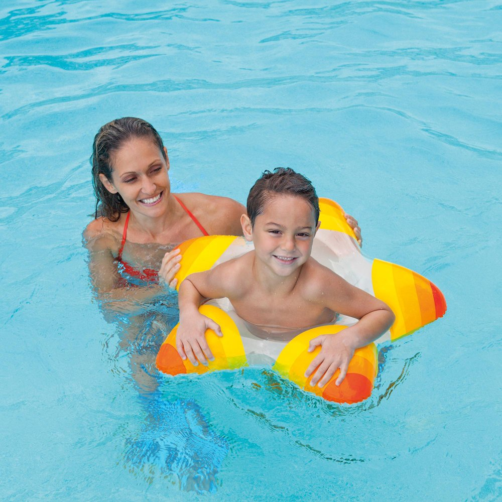 Product details of new inflatable floating swim ring kids children toy - Amazon Com Intex Inflatable Star Shape Swim Rings 1 Pack Colors May Vary For Ages 3 6 Toys Games
