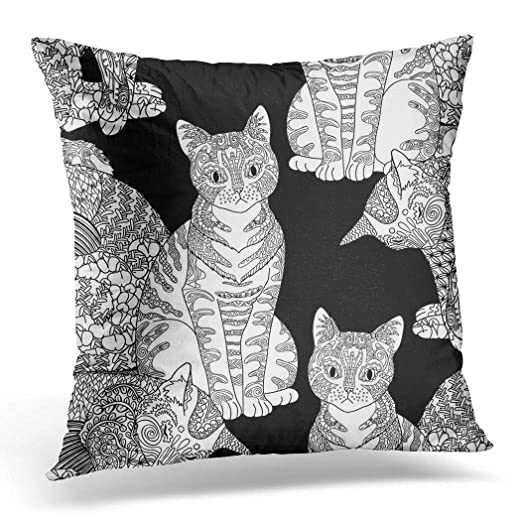 Topyee - Funda de cojín para Mascotas, diseño de Gatos de 45 ...