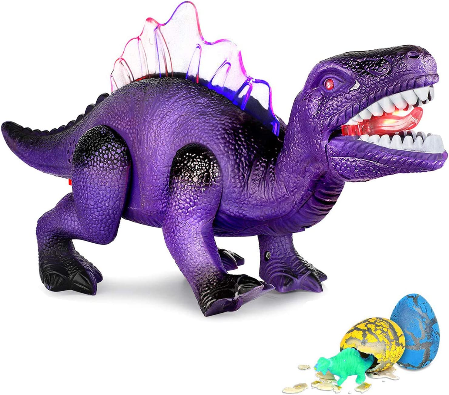 Walking Dinosaur Toys Battery Operated Dinosaur Toy Gifts for Kids Sky Blue