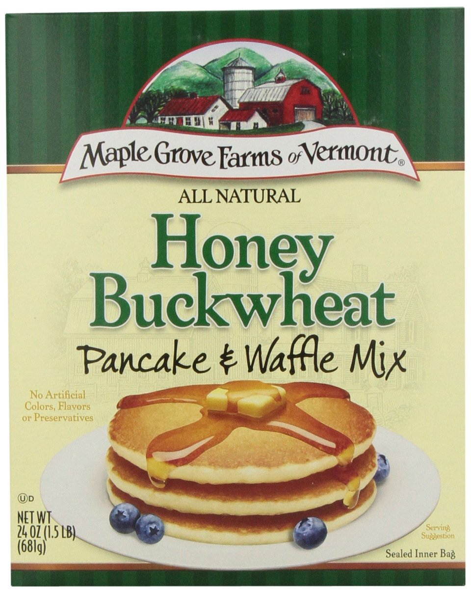 Maple Grove Farms Pancake Mix Honey Buckwheat, 24-Ounce (Pack of 6)