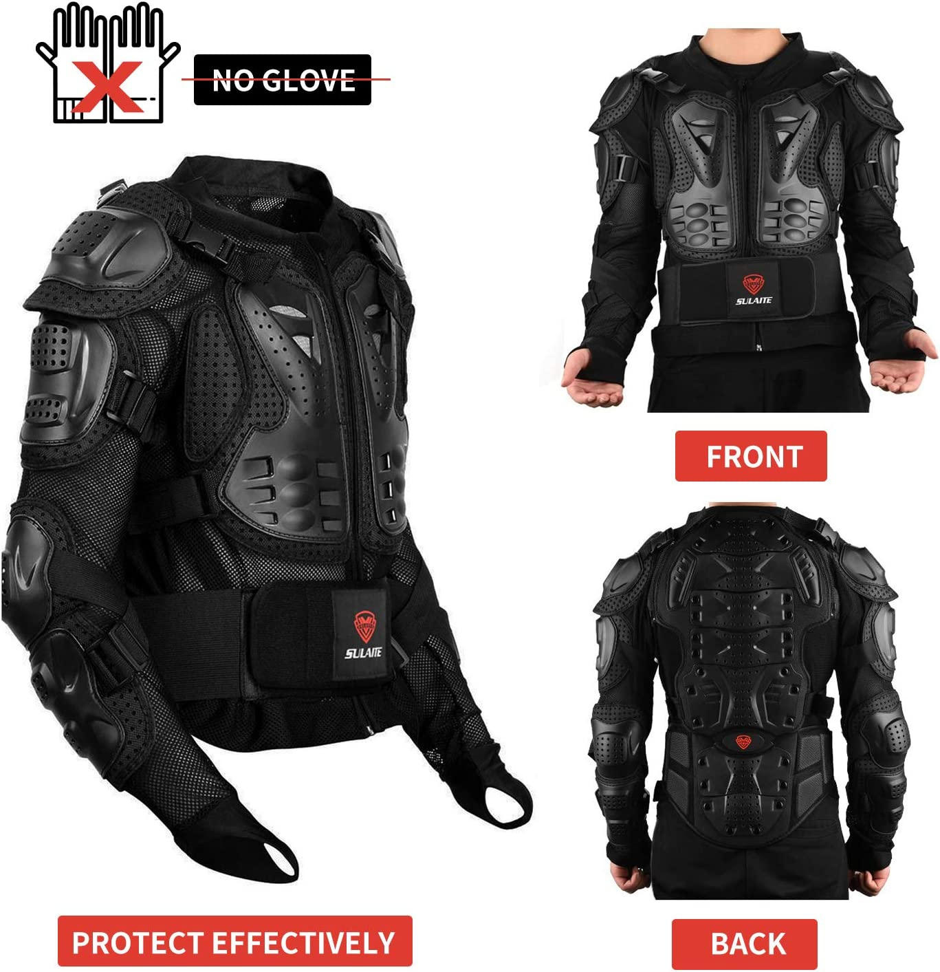 Blue Knee Gurad Armoured Mountain Cycling Riding Skating Snowboarding Track Crash CE Approved Motocross Motorbike Body Armour Motorcycle Protection Jacket