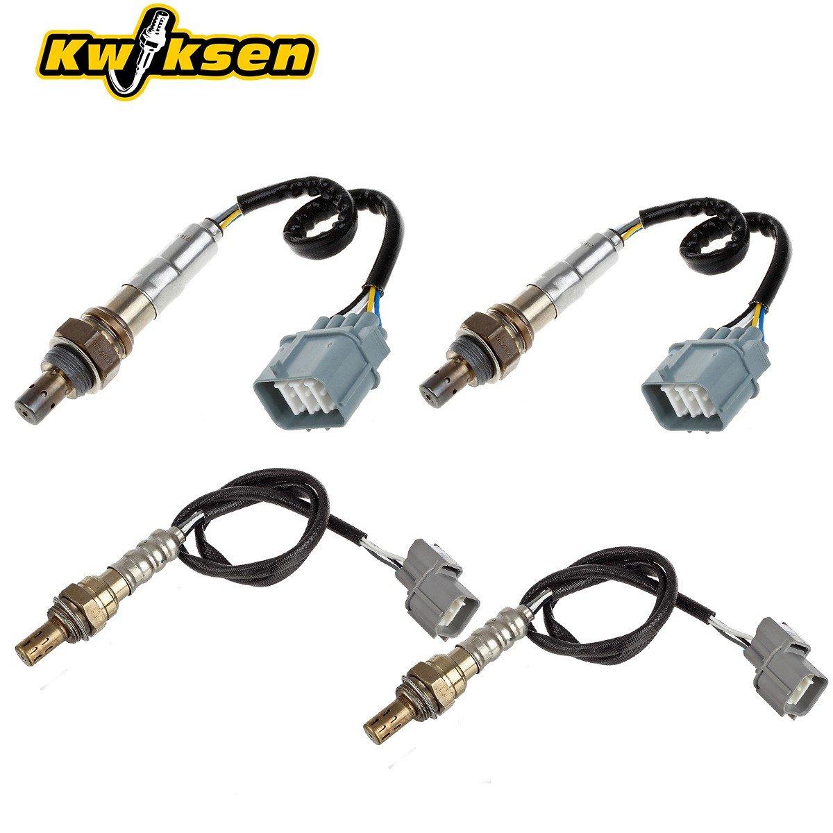 Kwiksen 4pcs Air Fuel Ratio Oxygen Sensor 1 2 Bank 2003 Honda Odyssey 02 Location Upstream Downstream Pre Cat Post For 2007 Accord Ex Lx 30l V6 Auto Trans