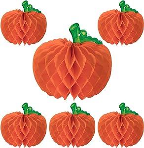 SARAFLORA Tissue Pumpkins for Halloween Party Decor Halloween General Decor Centerpieces Halloween 6 Pcs