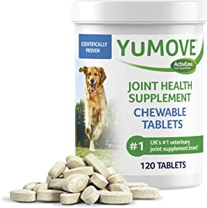 Dog Joint Supplement, Hip and Joint Supplement for Dogs with Glucosamine, Hyaluronic Acid, and Green Lipped Mussel and Omegas, Relief for Dog Hip and Joint Aches, by YuMOVE