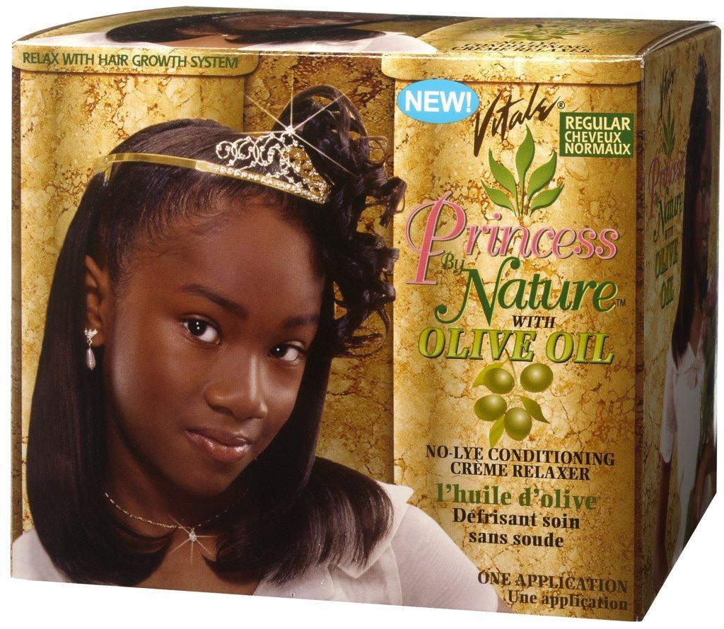 Vitale Olive Oil Princess By Nature Relaxer Kit, Regular Atlas Ethnic 0743690043260