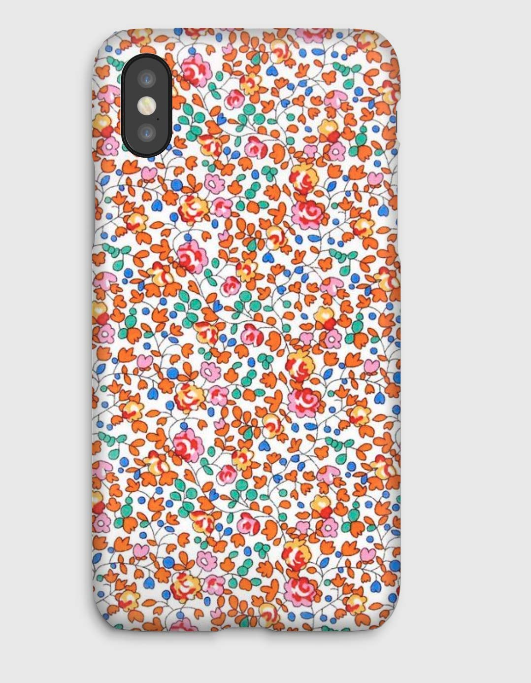 Funda para el iPhone X, 8, 8+, 7, 7+, 6S, 6, 6S+, 6+, 5C, 5, 5S, 5SE, 4S, 4, Liberty Eloise orange