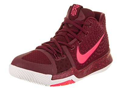 NIKE Kid's Kyrie 3 GS, Team Red/Hot Punch-White, Youth Size