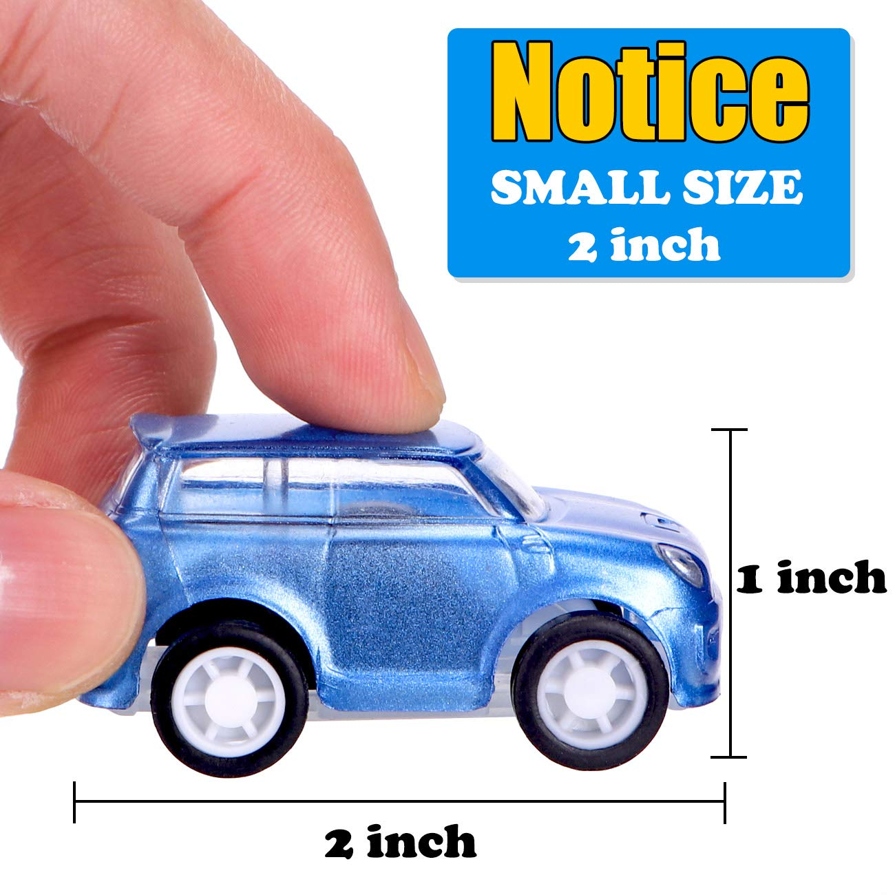 12 Pcs Filled Easter Eggs with Toy Cars,3.15''-Easter Pary Favor-Plastic Prefilled Eggs with Mini Pull Back Vehicles Toys for Toddlers by Sizonjoy (Image #5)