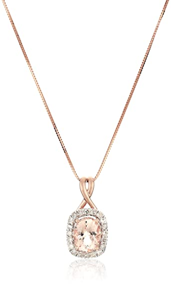 Amazon 14k rose gold morganite and diamond 14cttw h i color 14k rose gold morganite and diamond 14cttw h i color i2 aloadofball Gallery