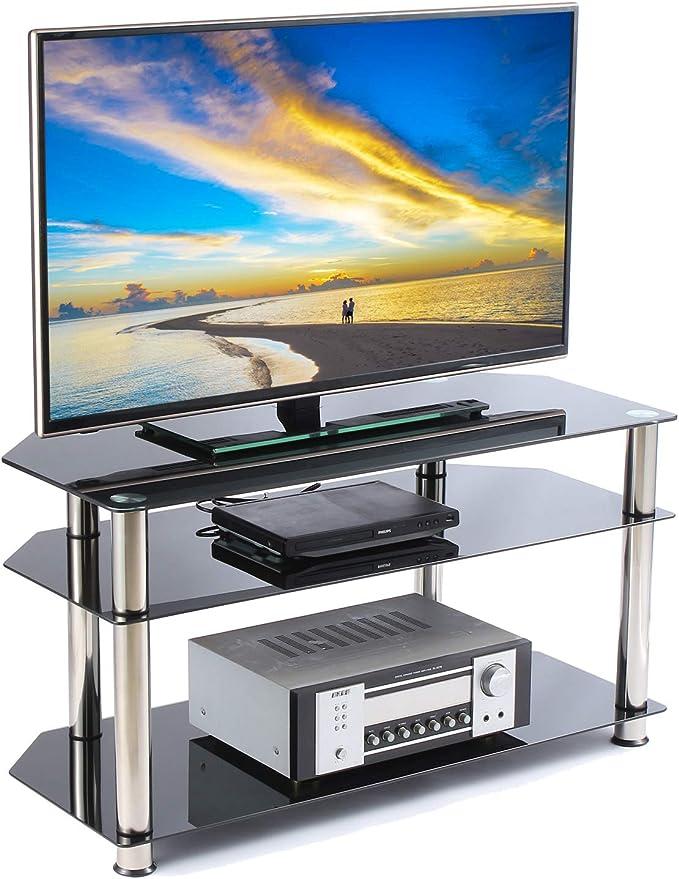 RFIVER Soporte o Mesa con 3 Estante para TV Equipos de Medios Audio Video TS1001: Amazon.es: Electrónica