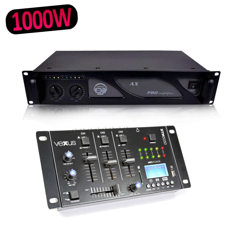 Vexus stm3030 mesa de mezclas 4 canales USB/MP3/BT/Rec + Ampli AX ...