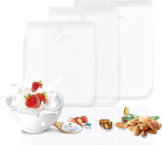 Compra GWHOLE Tuerca Bolsa de leche Filtro de malla de nylon ...