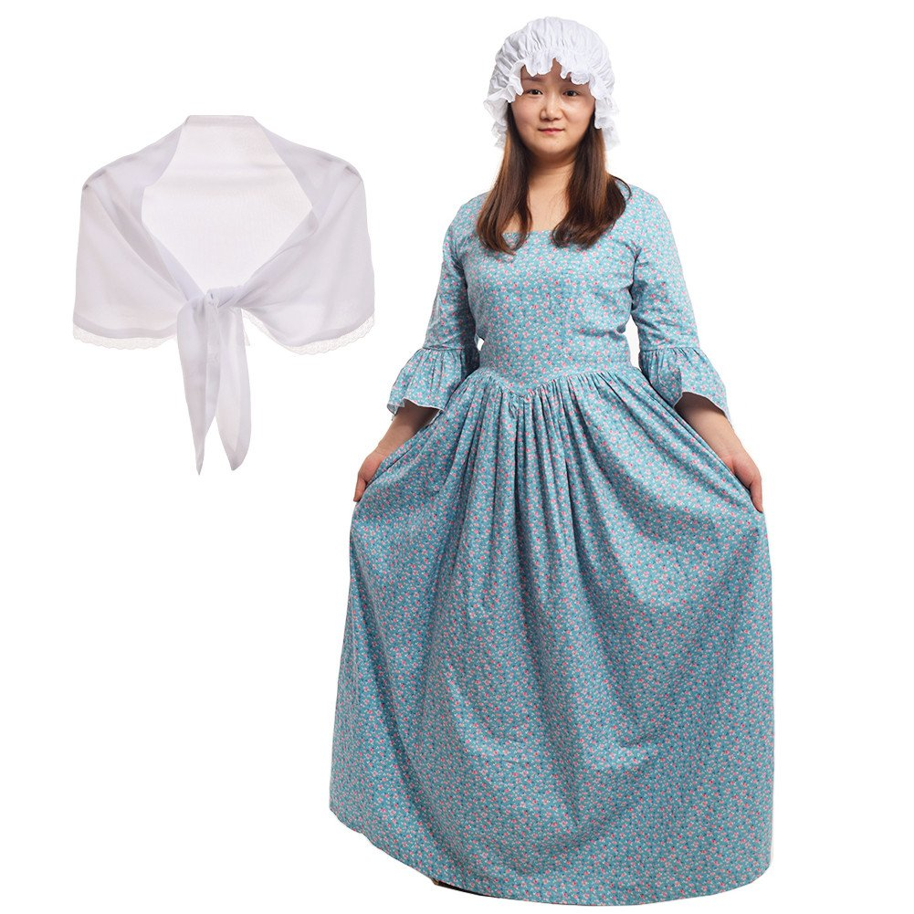 b673c3993544 Amazon.com  GRACEART Pioneer Colonial Women Costume Prairie Dress ...