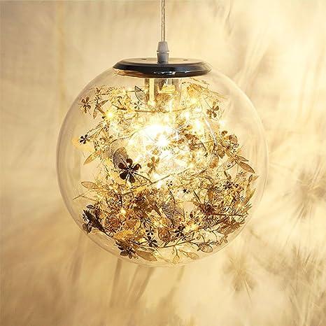 Nclon Lámparas de araña Sombra de vidrio,Lámpara de techo Simulación de estrellas Suspensión Moderno