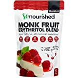 Granular Monk Fruit Sweetener with Erythritol (454 Grams / 16 OZ) - Perfect for Diabetics and Low Carb Dieters - 1:1 Sugar Replacement - No Calorie Sweetener, Non-GMO, Natural Sugar Substitute ( 1 Pound)