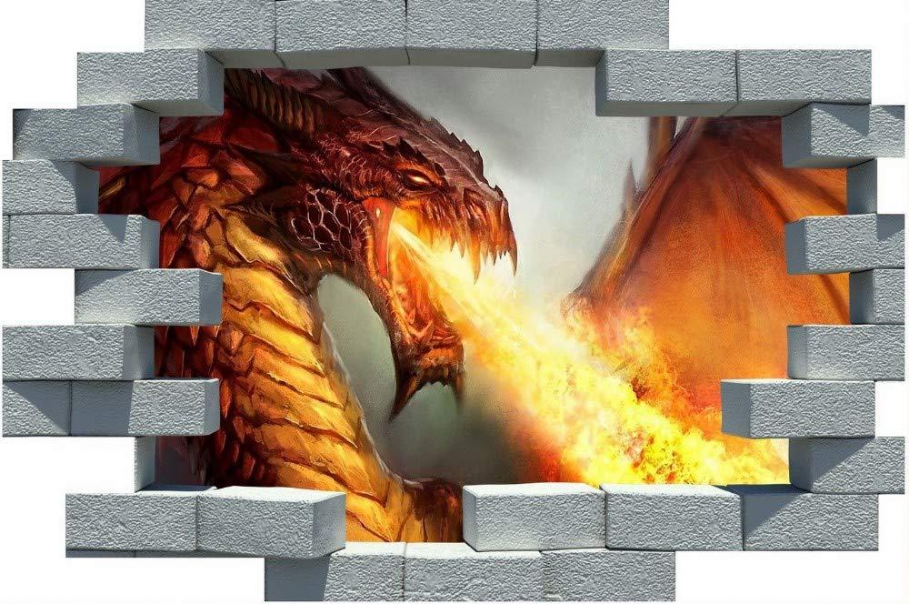 Vinilo de dragón para enganchar a la pared
