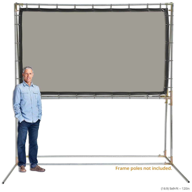 Carl's Gray Rear Projection Screen Film (16:9   5x9-Ft   120-in) Standing Rear Projection Screen Kit, Translucent Grey PVC Rear Projection Film, DIY Rear ...