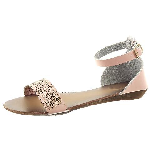 Zapatillas Sopily Mujer Moda Caña De Sandalias Flores Baja CrBQxeoEdW