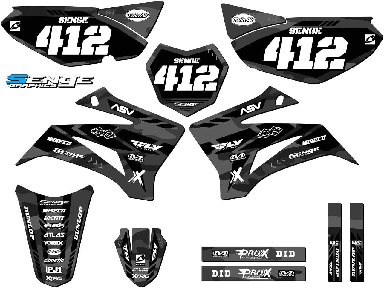 Apache Green Base kit 2008-2020 TTR 125 Senge Graphics Compatible with Yamaha