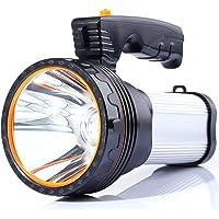 Led-zaklamp, 6000 lumen, USB-oplaadbaar, met 6000 mAh, powerbank, waterdicht, voor buiten, waterdicht, superhelder…