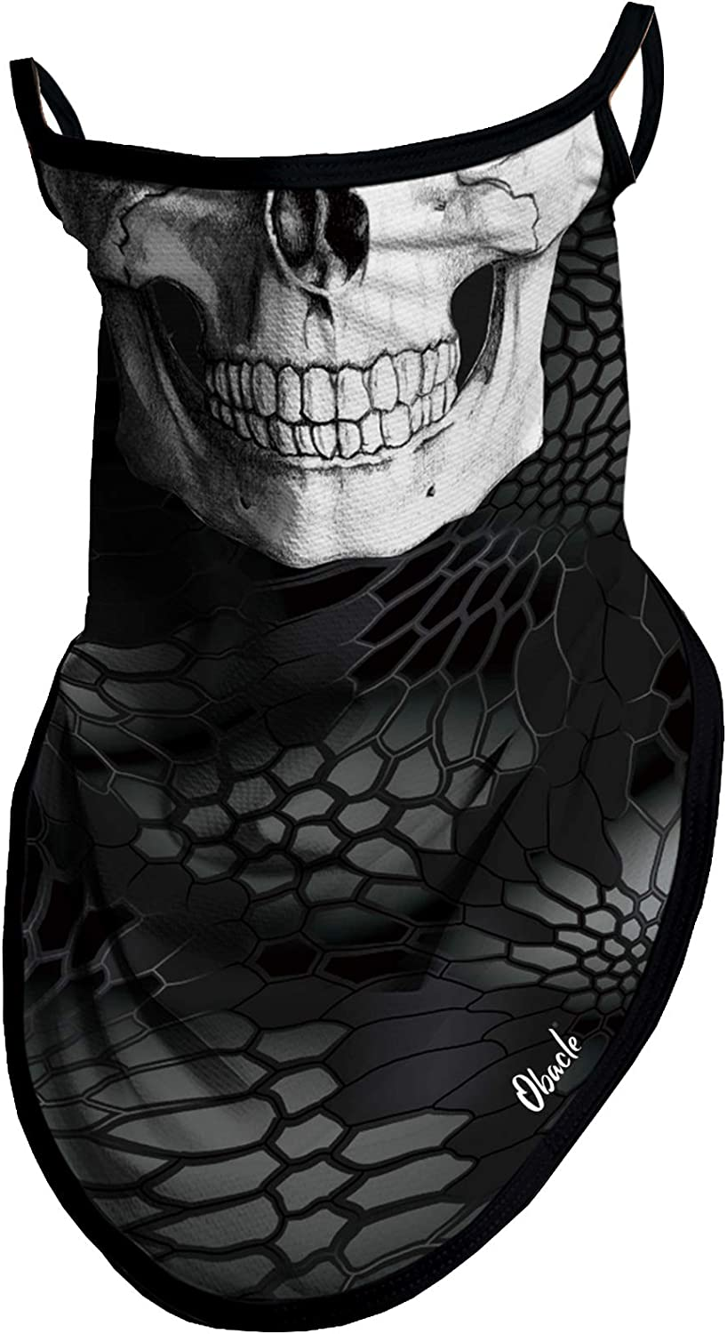 Obacle Max 80% OFF Bandana Face Mask with Loops Neck Ear Portland Mall Sc Gaiter
