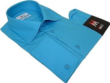 MMUGA - Camisa para Hombre con pañuelo Turquesa M: Amazon.es: Ropa y accesorios