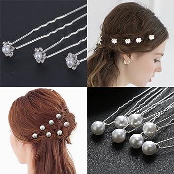40 Stück Hochzeit Haarnadeln Haarklammern Haarclips Perlen Blumen ...