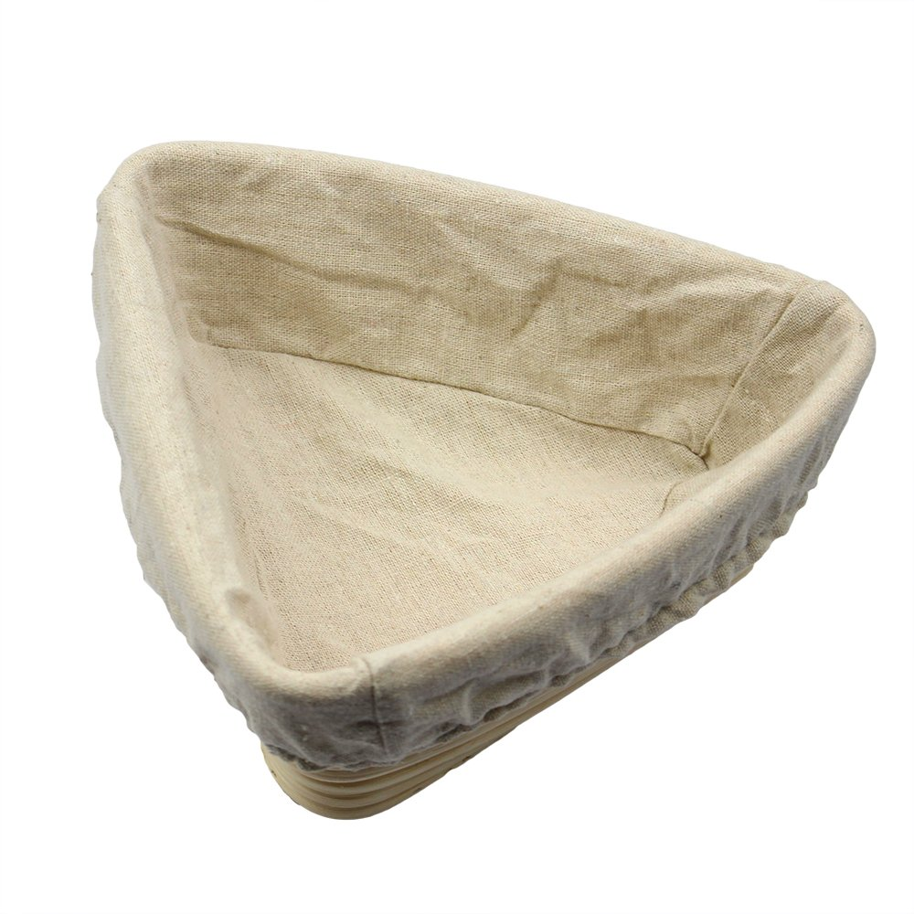 Bonus Linen Cover Babyfoxy 10 Inch Oval Brotform Banneton Proofing Basket Bread Bowl for Baking Dough with Rising Pattern