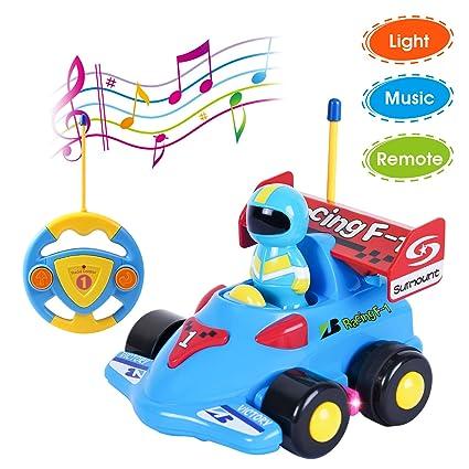 Antaprcis NinosJuguete Remoto Meses Teledirigido Carreras Con Rc Música Y De Para Niños Bebés 18 Coche LucesRadiocontrol kPXn0w8NO