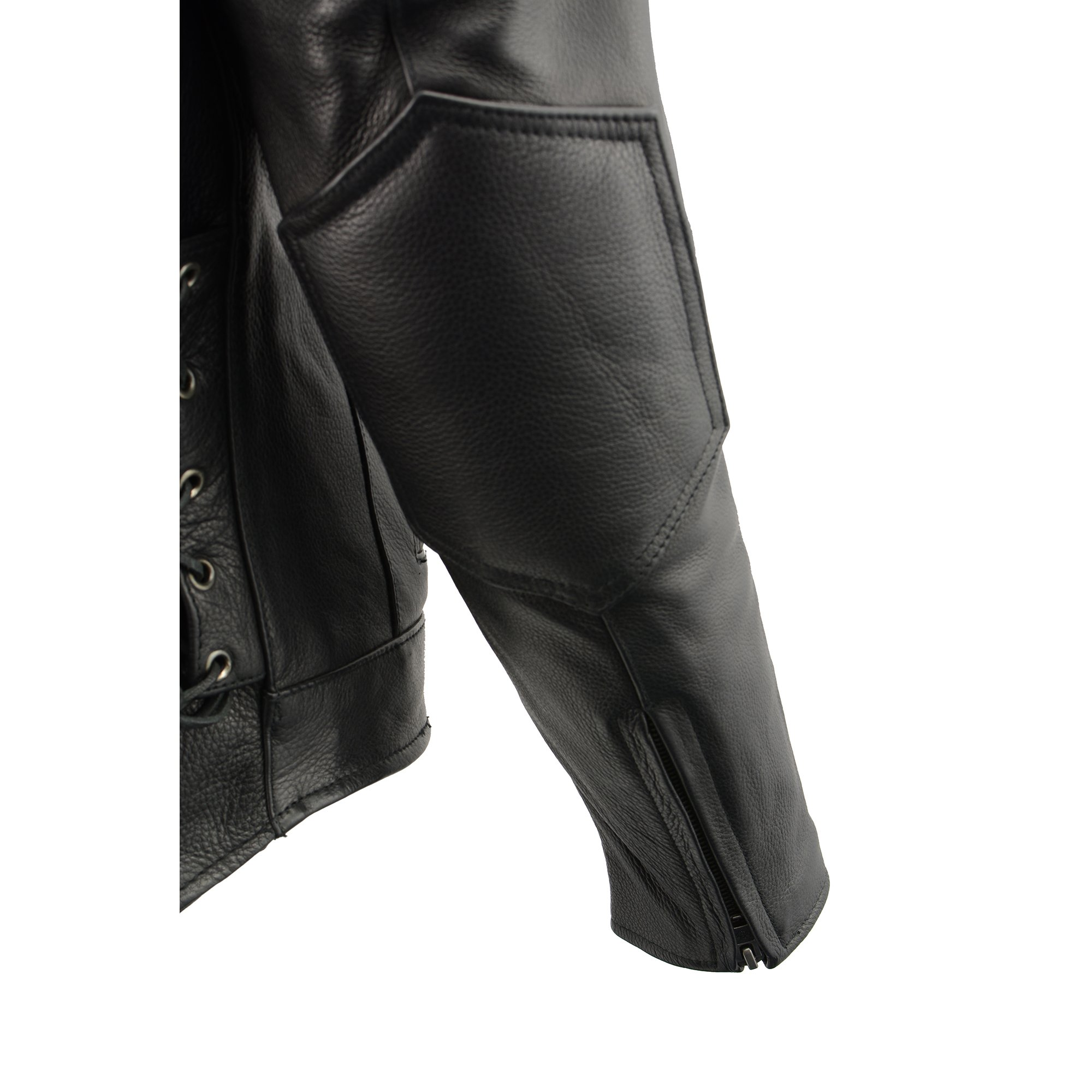Milwaukee Leather Men's Side Lace Vented Scooter Jacket (Black, 5X-LargeTall) by Milwaukee Leather (Image #11)