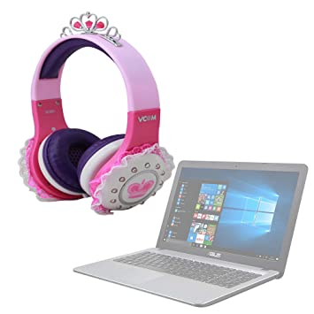 DURAGADGET Divertidos Auriculares De Princesa para Ordenador portátil ASUS ROG G752VS OC Edition | GL502VM |