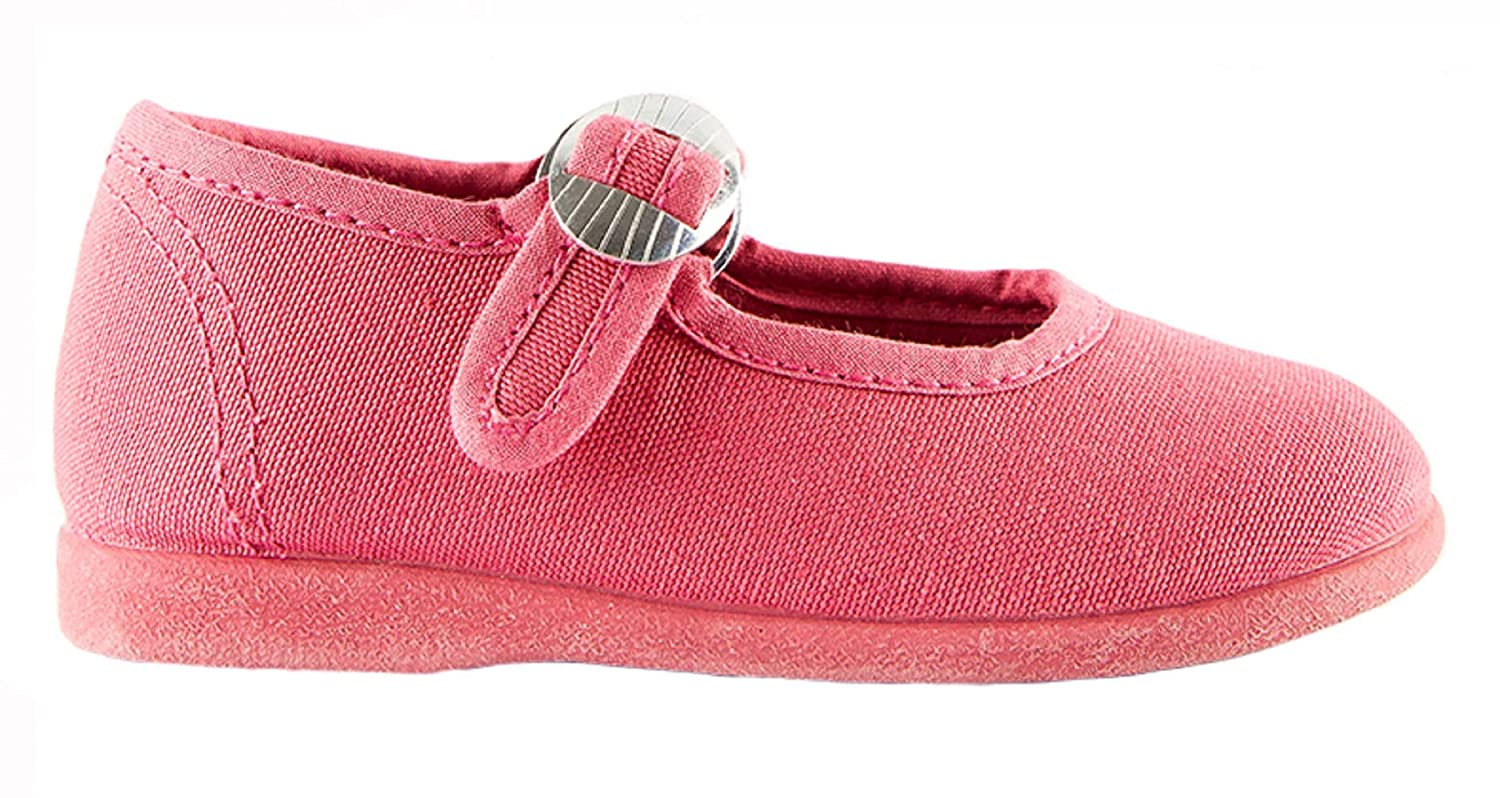 Namoo Kids Canvas Mary Jane Baby-Toddler-Kid Shoe Cotton and Rubber Sole
