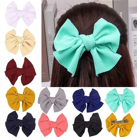 Boutique Hair Bows Grosgrain Ribbon Teen Kid Toddler Baby Girl Clip Alligator SA