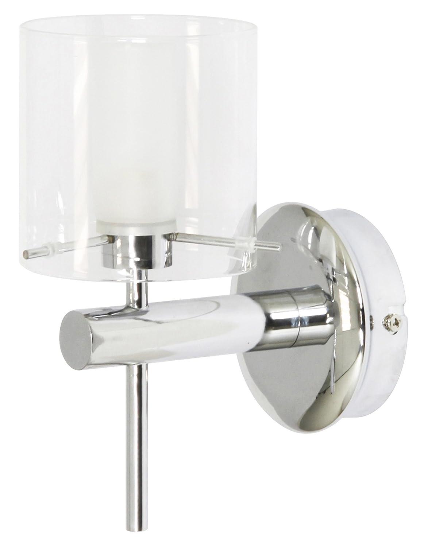ranex 3000057 applique salle de bain verre et chrome amazonfr luminaires et eclairage - Applique De Salle De Bain Globe